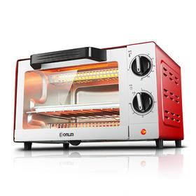 东菱电烤箱TO-610H 多功能迷你小烤箱 时尚红