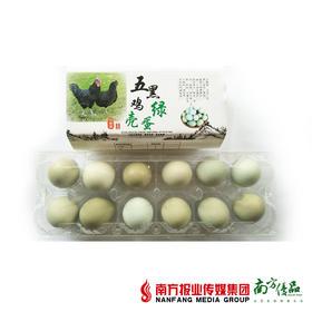 【次日提货】五黑鸡绿壳蛋  12个/盒