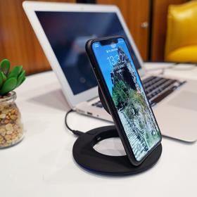 【一秒变立式无线充】邦华Boway无线充电器   可折叠立式支架  快充底座   适用iPhone X/三星/小米/华为