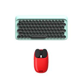 圆点键盘+薯片鼠标 洛斐工作通勤神器组合特惠