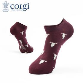 CORGI 女士 轻棉袜 个性牛头