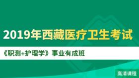 2019年西藏醫療衛生考試《職測+護理學》事業有成班