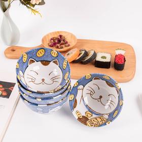 「冷热事宜 | 精致可爱 | 食品级材质」日本陶瓷餐具 招财猫系列碗碟盘礼盒