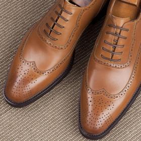 燕尾雕花布洛克绅士牛津鞋-六色含镶拼可选