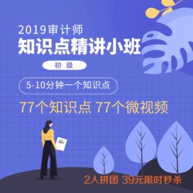 2019初级审计师知识点精讲小班