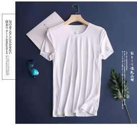 【瞬间降5°】夏季新款 冰爽羊奶丝T恤 一片式无痕透气速干男士短袖
