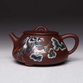 阳士琦·紫砂壶鹰(石瓢)