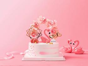 浪漫花环·粉色公主可爱系蛋糕