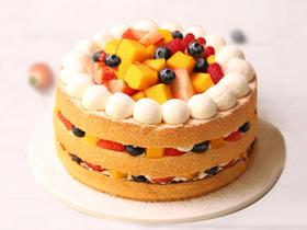 <限时折扣>鲜果蜜语·新鲜水果裸蛋糕