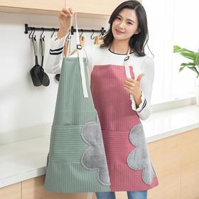 【可擦手设计 防油防污】居家布艺可擦手围裙 防油清洁可调节