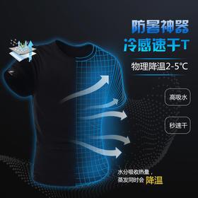 【2月3日后陆续发货】【直线降温3~5度的黑科技冷感T恤】MOHN排湿冰感T恤 立体网孔单向导湿排汗 蚕丝丝滑触感 穿了比不穿还爽