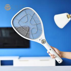 【畅享灭蚊痛快】日本SP SAUCE充电式家用LED灯强力安全大网面灭蚊器蚊拍