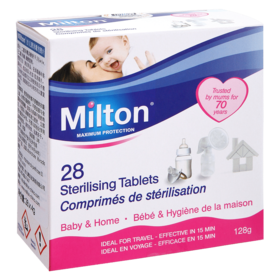 英国milton妙儿康婴儿消毒片儿童宝宝奶瓶杀菌消毒液免洗28片