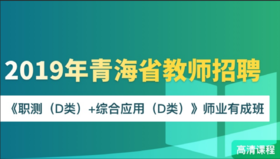 2019年青海教师招聘《职测(D类)+综合应用(D类)》师业有成班