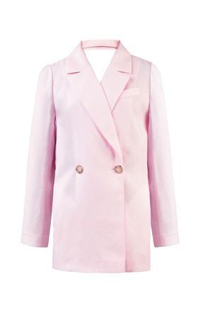 LAKE STUDIO 背后细节粉色西装