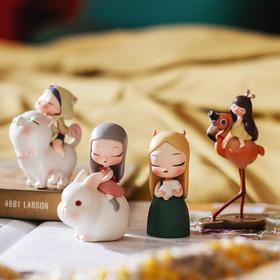 创意手伴礼物白夜童话lite系列Q版摆设少女心装饰礼品艺术摆件