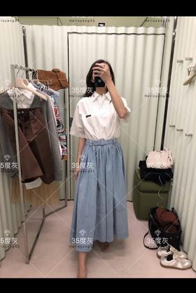 PR***19春夏新款牛仔印logo半裙!