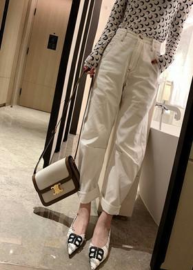 原单y's  19SS                                      超薄夏天牛仔透气面料                             宽松萝卜裤版型