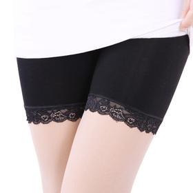 【为思礼】韩版可外穿打底裤 舒适高腰紧贴皮肤 弹性蕾丝防走光 柔软透气 收赘肉不紧绷