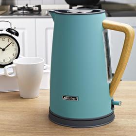 思迪乐 北欧电热水壶304不锈钢家用烧水壶自动断电1.7升 进口温控