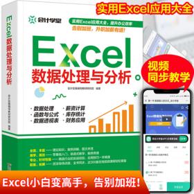 会计学堂 Excel数据处理与分析 WPS教程表格制作函数计算机应用基础知识自动化教程办公应用