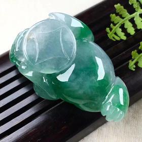 (JG9041735)冰绿貔貅,雕琢复雕琢,片玉万黄金。