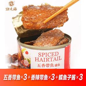 带鱼罐头|120克/罐 米饭伴侣 五香香辣各两罐【严选X休闲零食】