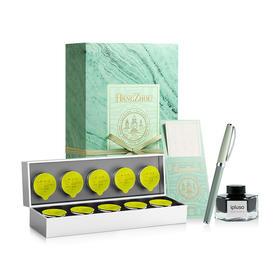 """小罐茶 X ipluso 意索""""寄与爱茶人""""书房礼盒龙井茶绿茶钢笔墨水礼盒"""