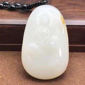 【E9041919】脂白和田玉籽料作品