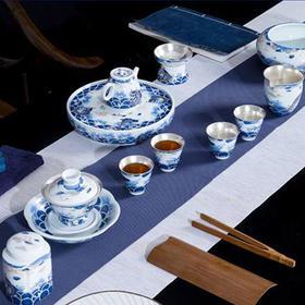 《海阔天空》鎏银茶具套装