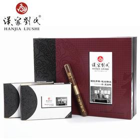 汉家刘氏 2014将黑金砖 茯砖茶 正宗黑茶 茶叶  金花 礼品礼盒装