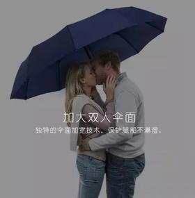 【 零透光!全自动折叠两用晴雨伞 】抗紫外线99%,荷叶拒水,强抗风,两用双人伞,再也不怕湿身!