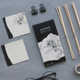 文创/植物花卉花朵/花色记忆系列 可撕便签本N次贴