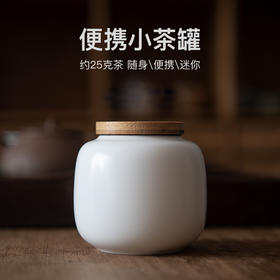 迷你小号装茶叶罐小茶罐陶瓷密封罐子储茶绿茶红茶茶叶盒旅行随身