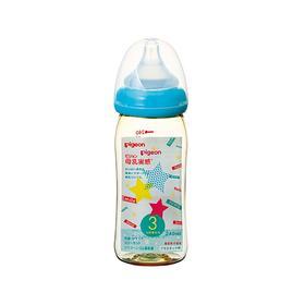 日本贝亲Pigeon母乳实感PPSU奶瓶 蓝色星星240ml