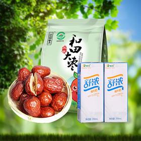 【元气早餐】新疆纯牛奶×2瓶+新疆和田大枣三级×1袋