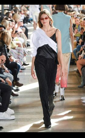 设计师品牌假两件吊带上衣!