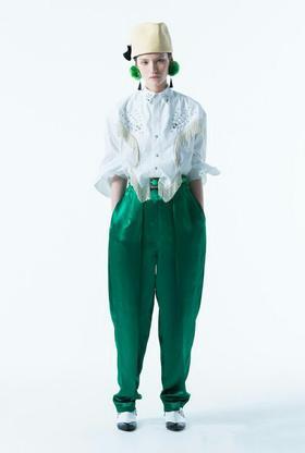 T***19春夏新款搭配腰带长裤!