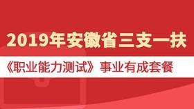 """2019年安徽省""""三支一扶""""《職業能力測試》事業有成套餐"""