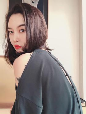 中式科幻性感慵懒T恤连衣裙
