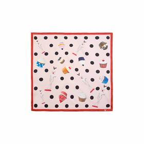 水果硬糖 波点方巾系列 艺术丝巾