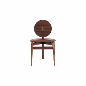 张子翰/徐璐 Spoon Chair-《勺椅》椅子 实木(黑胡桃)