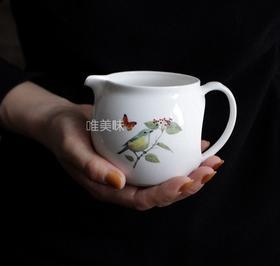 陶瓷 花鸟彩蝶 奶罐 蜂蜜罐 沙司罐 早餐 Brunch 喝咖啡 下午茶 轰趴 满包邮