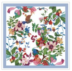 刘玥《秘密花园》艺术丝巾