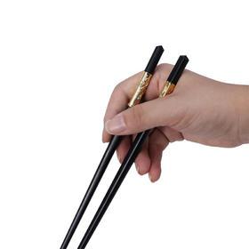 康巴赫筷子家用酒店筷子铝合金筷子套装10双防滑餐具欧式不锈钢筷子