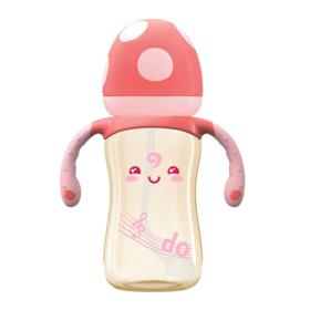 bobo  蘑菇成长PPSU小金瓶 330ml(带手柄吸管)BP1706-Y