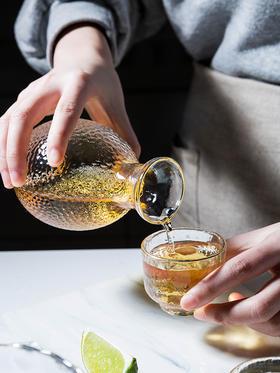 摩登主妇日式锤目纹玻璃清酒壶酒杯套装烫酒缸温酒器黄酒白酒酒壶
