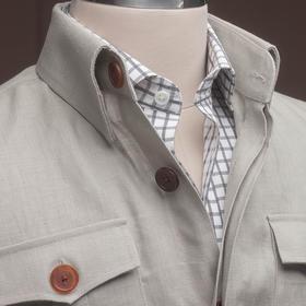 男士亚麻猎装夹克-升级款/老款