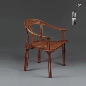 石大宇《椅刚柔》艺术椅 大漆 竹条、竹集成材