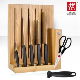 双立人ZWILLING 红点系列刀具8件套 带面包刀磁性刀架 冰锻锋利专刀专用